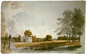 A vision of Long Branch in watercolor by Benjamin Henry Latrobe, 1811, noted architect of the US Capitol.