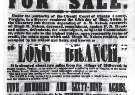 The 1868 Auction of Long Branch