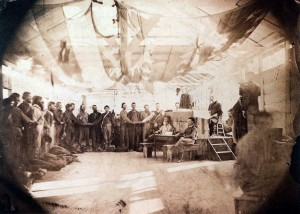 June 30 1865 - last of Confederate prisoners at Point Lookout take oath of allegiance to US to gain their freedom [Library of Congress]