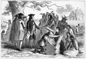 American Indians trade with Settlers